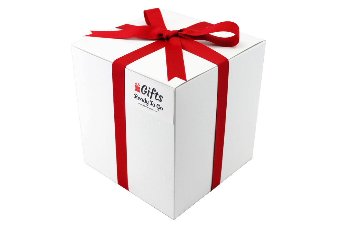 Tall Elegant Gift Box With Red Ribbon