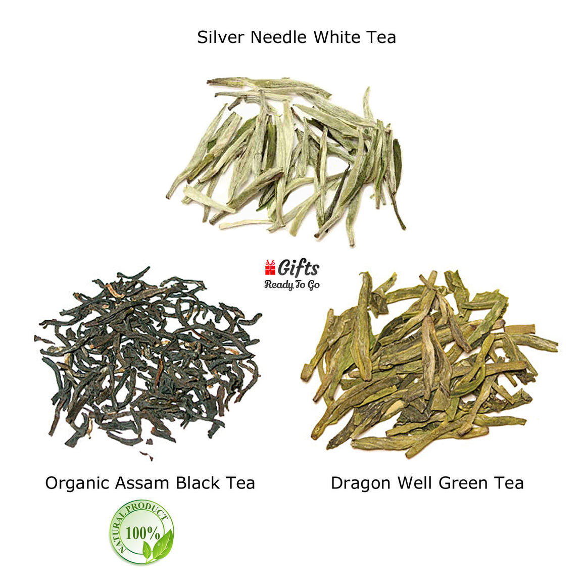 Gifts Ready To Go Premium White Black Green Tea Gift Set