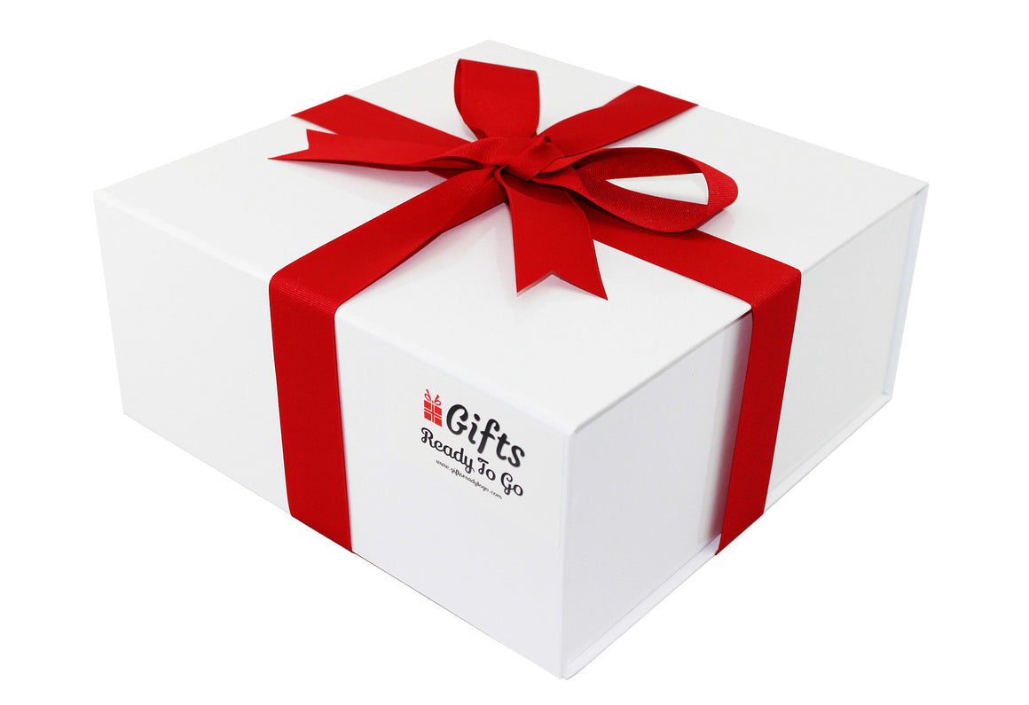 Elegant Gift Box With Red Ribbon