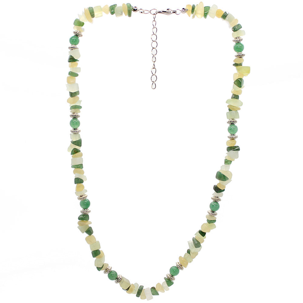 Lucky Aventurine and New Jade Necklace Large