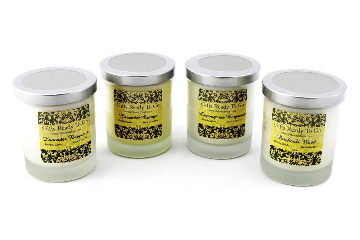 Organic Soy Candles - Pure Essential Oils Gift Set