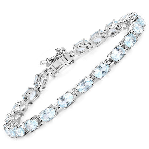 Blue Topaz Bracelet in Sterling Silver