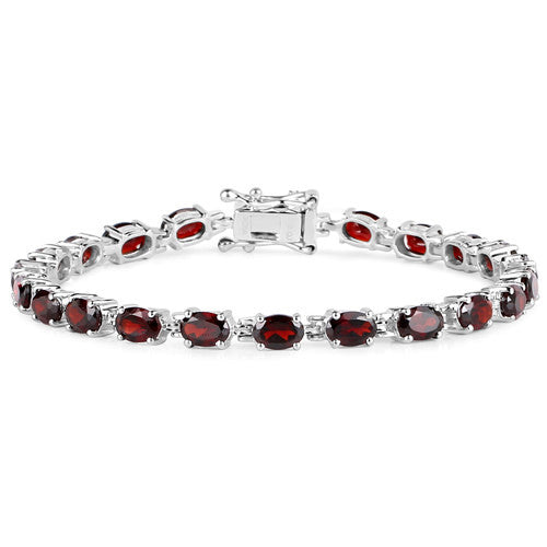 Garnet Bracelet in Sterling Silver Picture 2