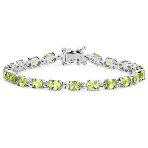 Peridot Bracelet in Sterling Silver Picture 2