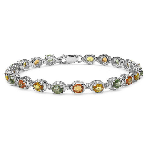 Multi Gemstone Bracelet in Sterling Silver