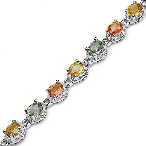 Multi Gemstone Bracelet in Sterling Silver Picture 2