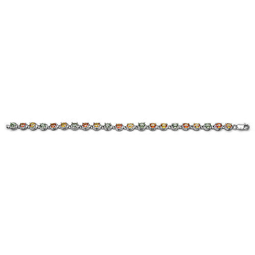 Multi Gemstone Bracelet in Sterling Silver Picture 3