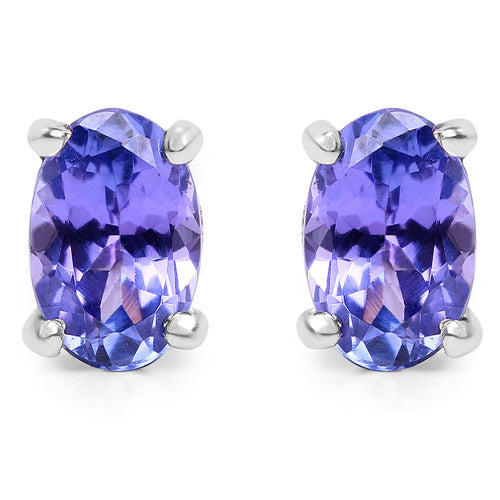 Tanzanite Earrings in Sterling Silver