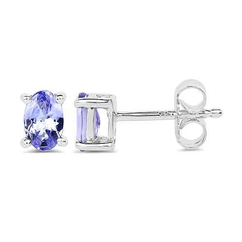 Tanzanite Earrings in Sterling Silver Picture 2