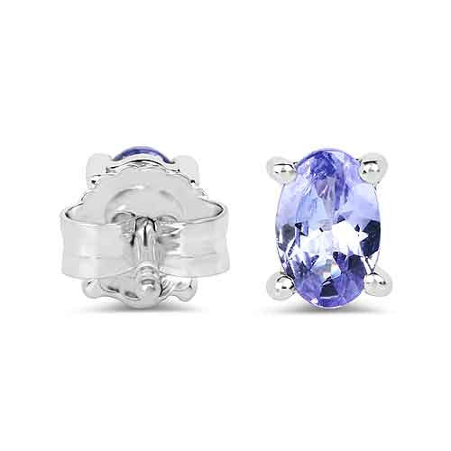 Tanzanite Earrings in Sterling Silver Picture 3