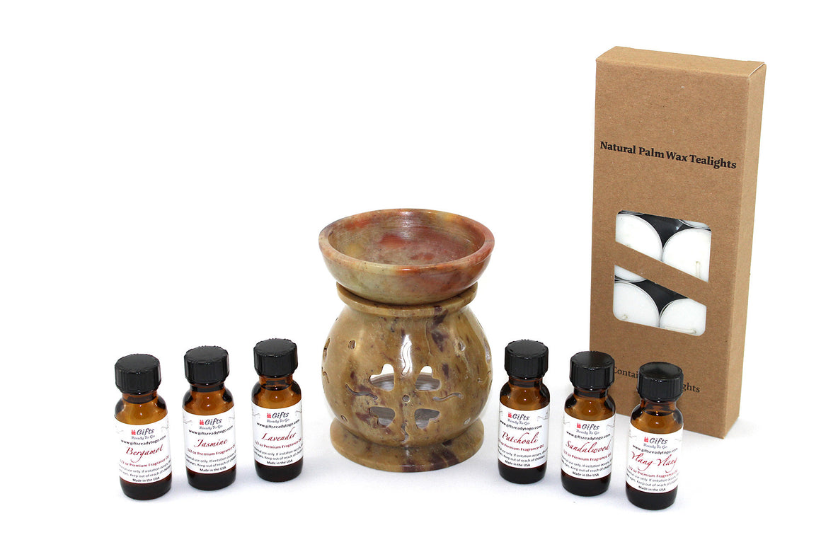 Soapstone Fragrance Oil Diffuser 4 Inch Gift Set