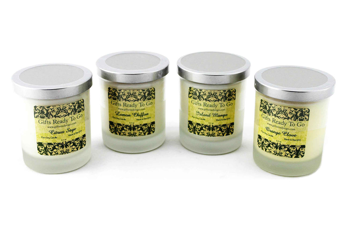 All Natural Soy Candles - Citrus & Fruit Collection Gift Set