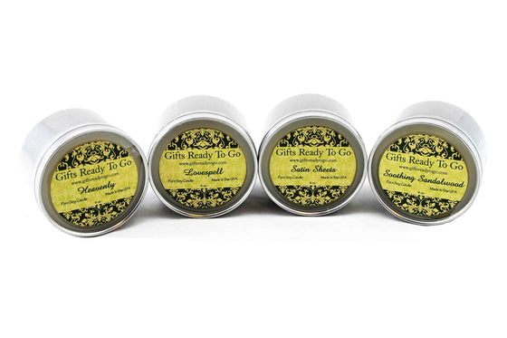 Fragranced Travel Tin Soy Candles - Allure Collection Gift Set