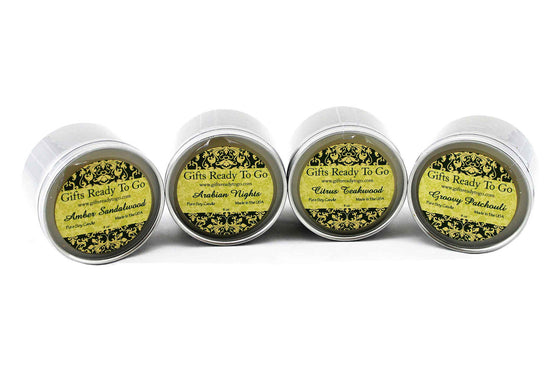 All Natural Travel Tin Soy Candles - Earth Collection Gift Set