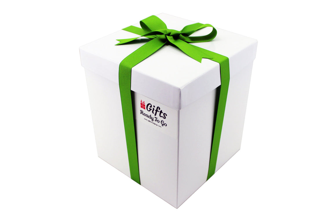 Tall Elegant Gift Box With Green Ribbon