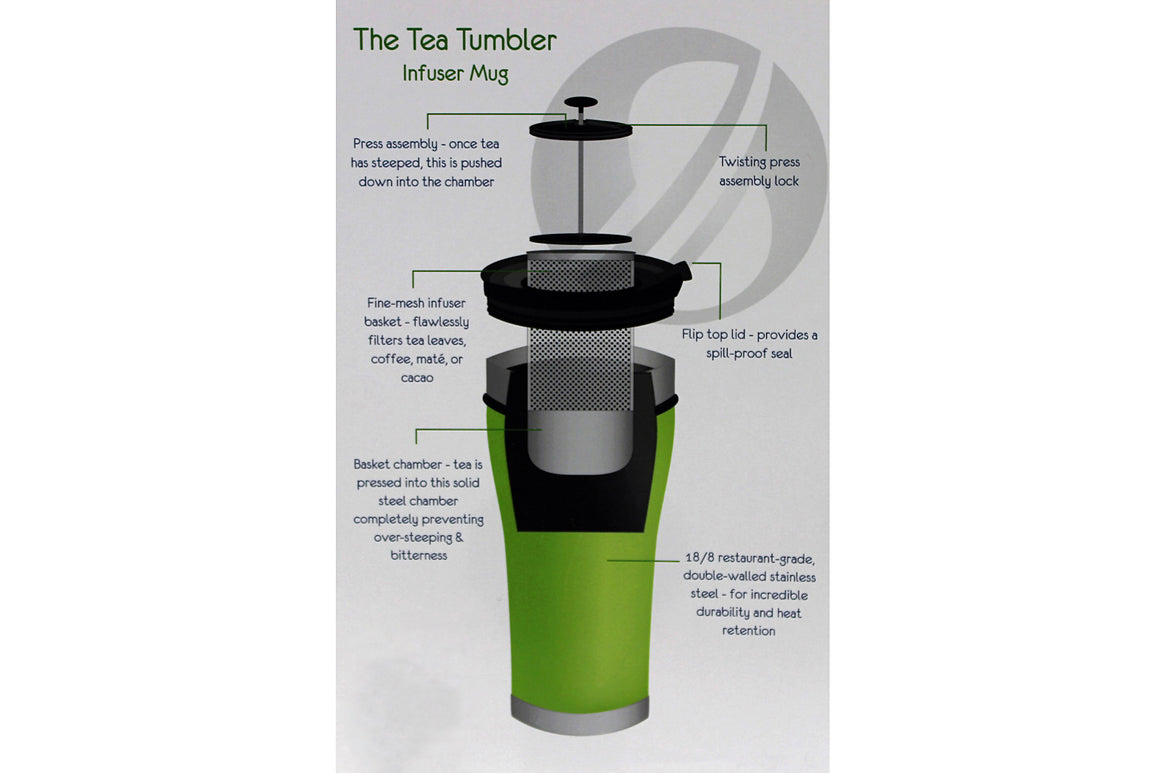 Tea Infuser Tumbler Combo Gift Set (Pearl White)