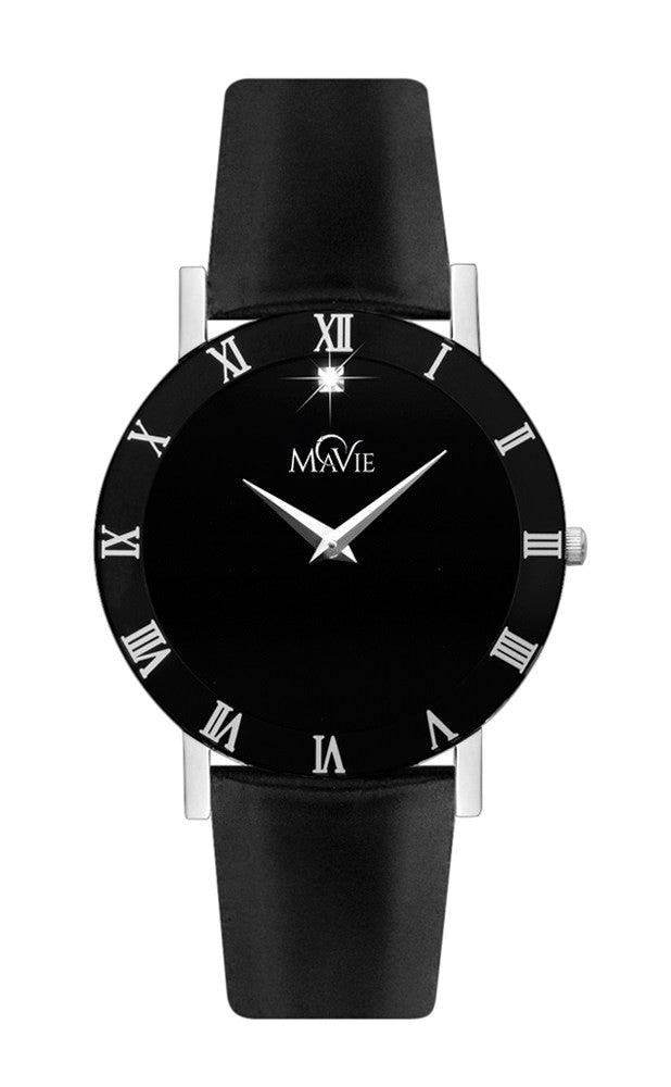 MaVie Infinity Leather Timepiece For Men