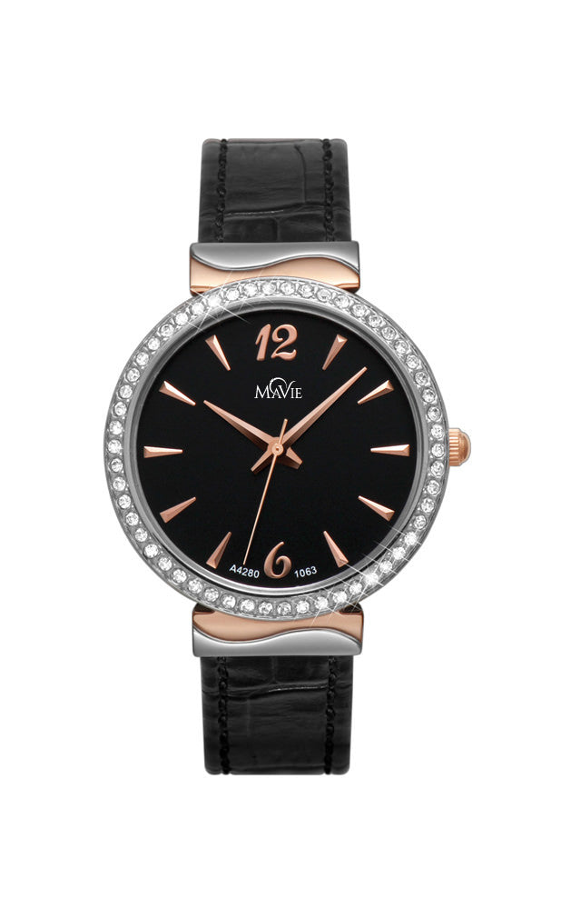 MaVie Starlight Timepiece For Women (Black)