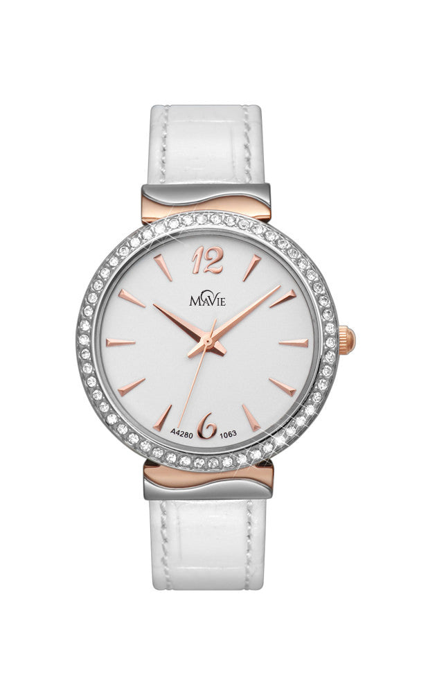 MaVie Starlight Timepiece For Women (White)