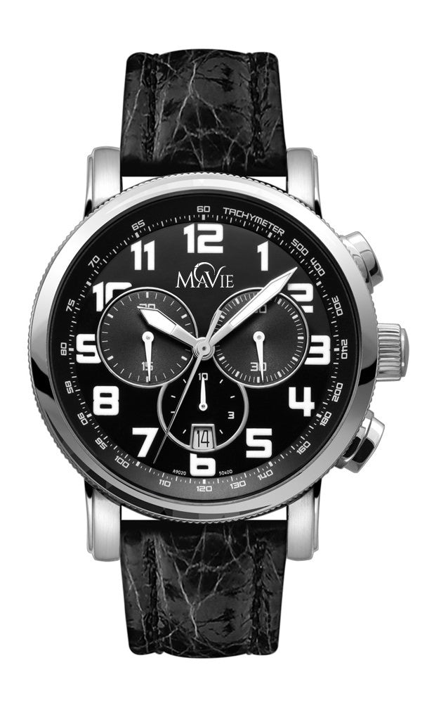 MaVie Eclipse Chronograph Timepiece For Men (Black)