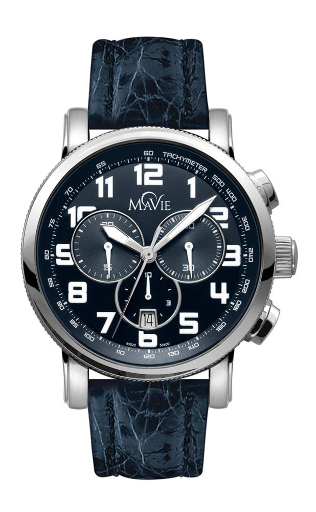 MaVie Eclipse Chronograph Timepiece For Men (Blue)