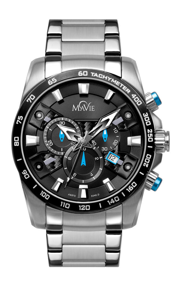 MaVie Equinox Chronograph Timepiece For Men (Blue)