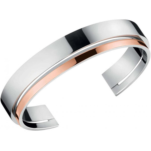 CALVIN KLEIN: SILVER LOUD BANGLE