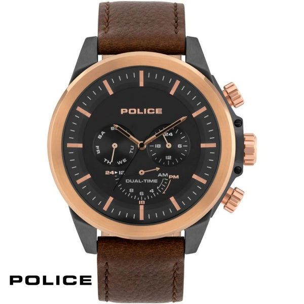 POLICE: BROWN LEATHER BELMONT WATCH