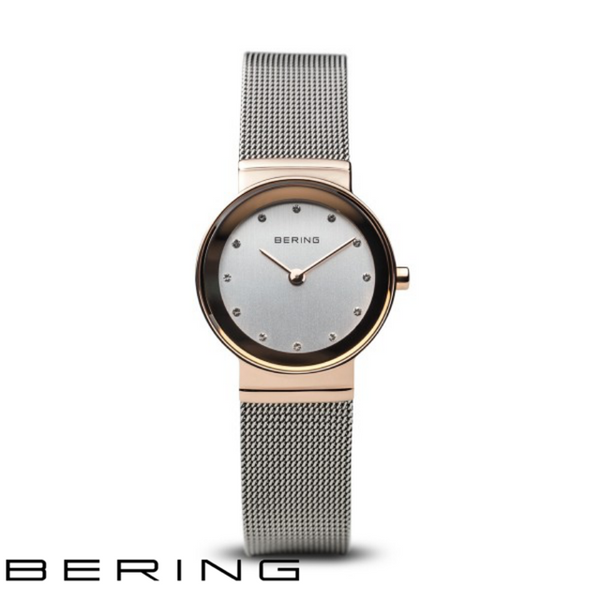 BERING: LADIES CLASSIC POLISHED ROSE GOLD/SILVER