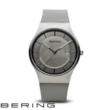 BERING: GENTS BRUSHED SILVER/SILVER