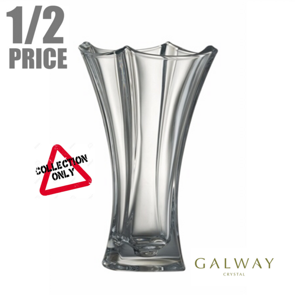 GALWAY CRYSTAL: DUNE WASTED 14 INCH VASE