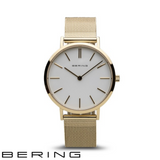 BERING: LADIES CLASSIC POLISHED GOLD/WHITE