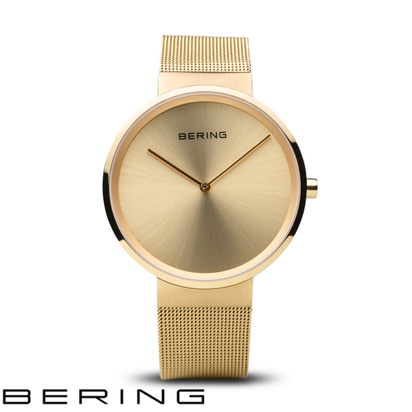 BERING: LADIES CLASSIC POLISHED/BRUSHED GOLD