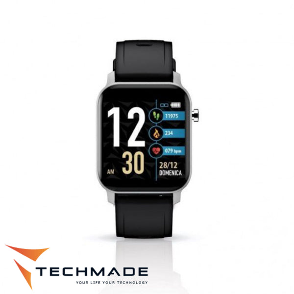 TECHMADE TECHWATCH X BLK SIL SMARTFIT