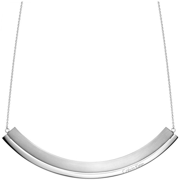 CALVIN KLEIN: SILVER LOUD NECKLACE