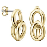 CALVIN KLEIN: GOLD STATEMENT EARRINGS