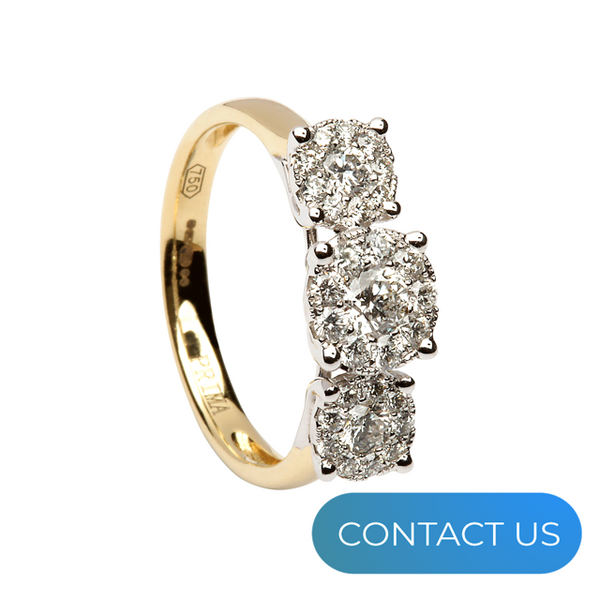 DIAMONDS @ VMJ: 3 STONE ILLUSION SET DIAMOND RING