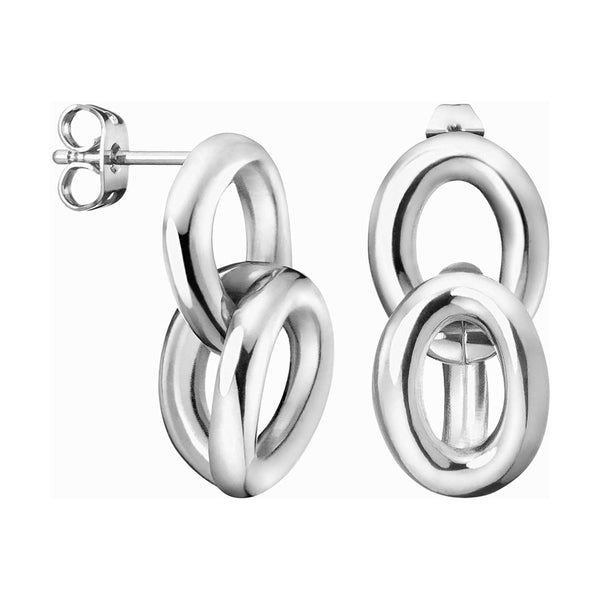 CALVIN KLEIN: SILVER STATEMENT EARRINGS
