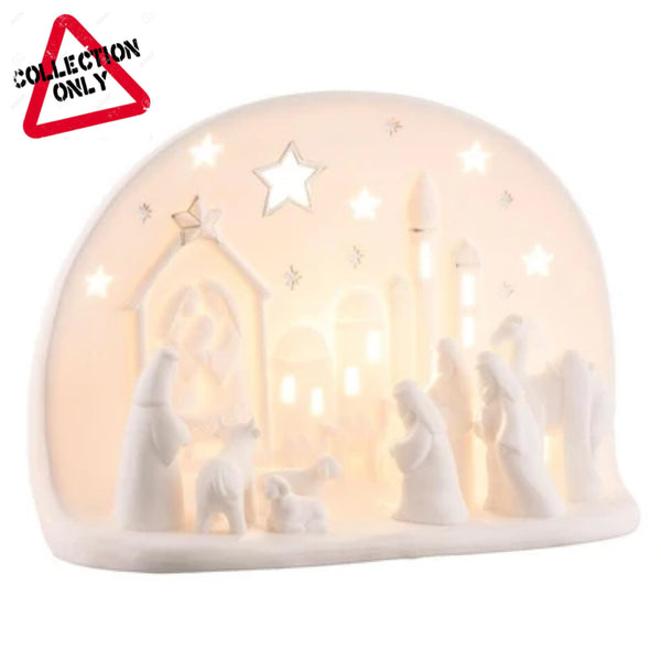 BELLEEK LIVING LARGE NATIVITY LUMINAIRE