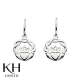 KIT HEATH: HERITAGE CLADDAGH WOVEN DROP EARRINGS
