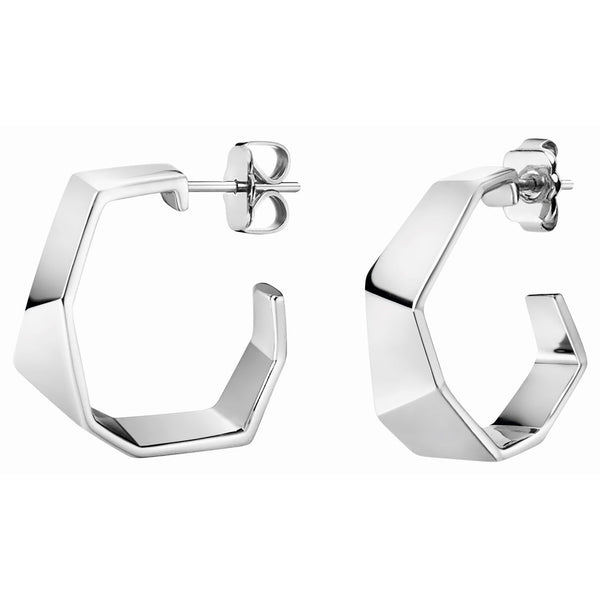 CALVIN KLEIN: SILVER ORIGAMI EARRINGS