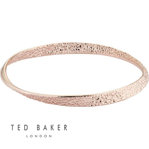 HAMMERED HOOP: ROSE GOLD BANGLE
