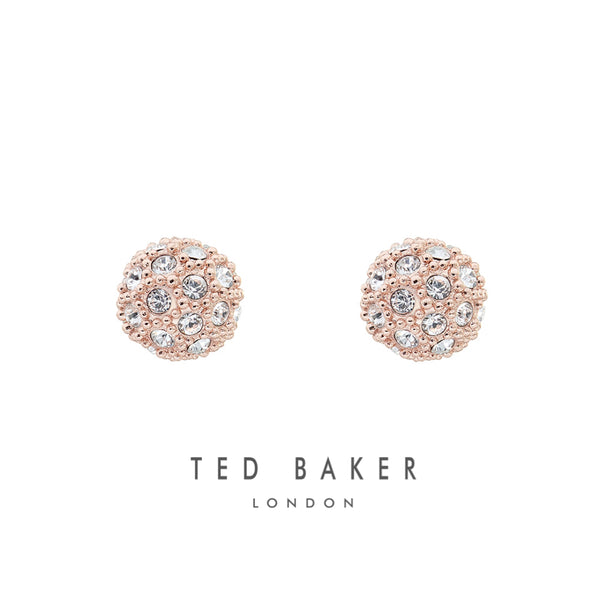 PAVLY: ROSE GOLD PAVE BALL STUD