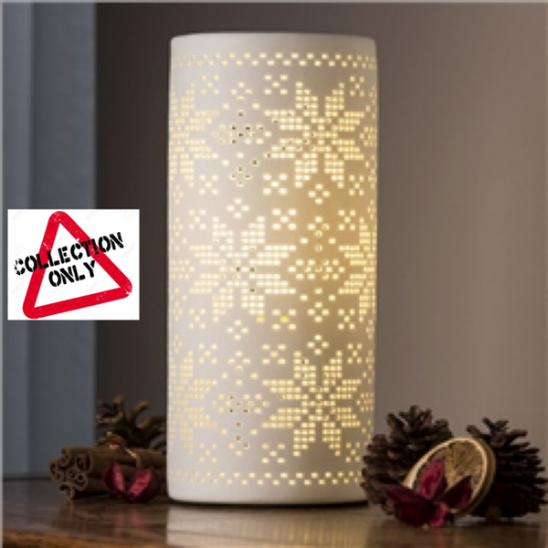 BELLEEK LIVING SNOWFLAKE LUMINAIRE