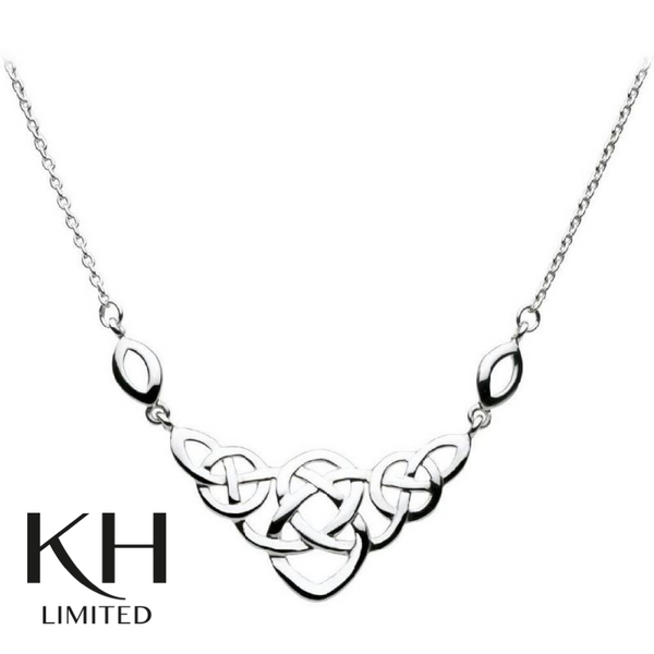 KIT HEATH: HERITAGE CELTIC LARGE OPEN KNOT NECKLACE