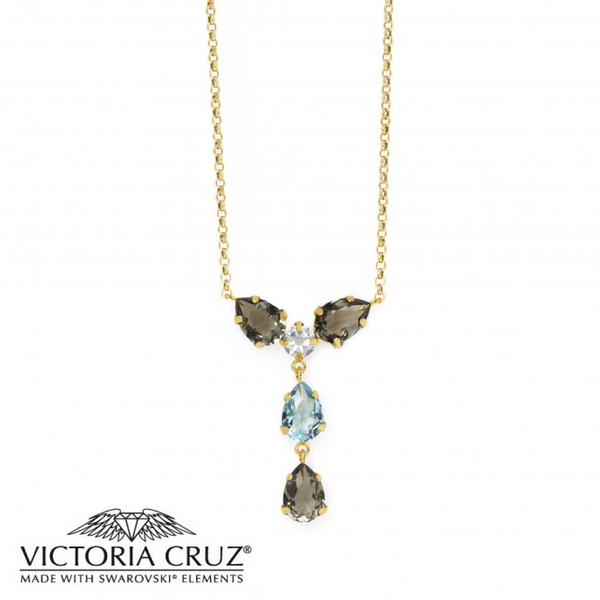VICTORIA CRUZ: GOLD LOUIS NECKLACE