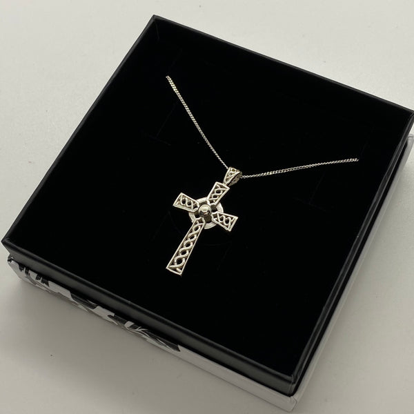VMJ STERLING SILVER CELTIC CROSS PENDANT