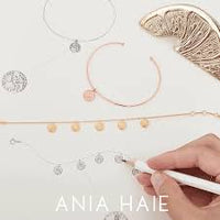 ANIA HAIE: STERLING SILVER TWO TONE ORBIT DROP BALL BRACELET