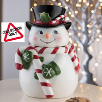 AYNSLEY CANDY CANE COOKIE JAR