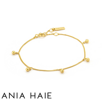 ANIA HAIE: STERLING SILVER GOLD ORBIT DROP BALL BRACELET